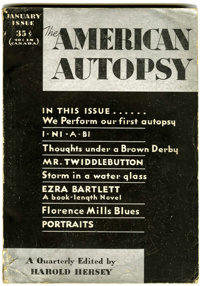 The American Autopsy V1#1 (Headquarters Publishing Co., 1932) Condition: VG-