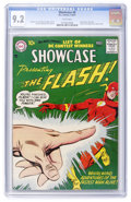 Showcase #8 The Flash (DC, 1957) CGC NM- 9.2 White pages