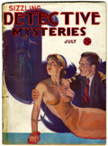 Pulps:Detective, Sizzling Detective Mysteries V1#3 (Nudeal Publishing Co., 1935) Condition: GD....