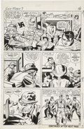 Original Comic Art:Panel Pages, Jack Kirby and George Roussos (as George Bell) Sgt. Fury #7page 13 Original Art (Marvel, 1964)....