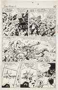 Original Comic Art:Panel Pages, Jack Kirby and George Roussos (as George Bell) Sgt. Fury #7page 20 Original Art (Marvel, 1964)....