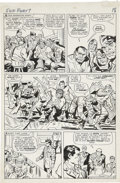Original Comic Art:Panel Pages, Jack Kirby and George Roussos (as George Bell) Sgt. Fury #7page 14 Original Art (Marvel, 1964)....