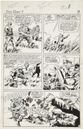 Original Comic Art:Panel Pages, Jack Kirby and George Roussos (as George Bell) Sgt. Fury #7page 3 Original Art (Marvel, 1964)....
