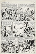 Original Comic Art:Panel Pages, Jack Kirby and George Roussos (as George Bell) Sgt. Fury #7page 4 Original Art (Marvel, 1964)....