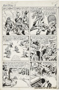 Original Comic Art:Panel Pages, Jack Kirby and George Roussos (as George Bell) Sgt. Fury #7page 5 Original Art (Marvel, 1964)....