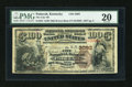 National Bank Notes:Kentucky, Paducah, KY - $100 1882 Brown Back Fr. 525 The City NB Ch. # 2093....