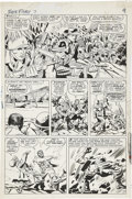 Original Comic Art:Panel Pages, Jack Kirby and George Roussos (as George Bell) Sgt. Fury #7page 7 Original Art (Marvel, 1964)....