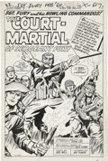 Original Comic Art:Panel Pages, Jack Kirby and George Roussos (as George Bell) Sgt. Fury #7 Splash Page 1 Original Art (Marvel, 1964)....