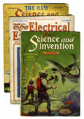 Pulps:Science Fiction, Science and Invention/Electrical Experimenter Group (VariousPublishers, 1916-32) Condition: Average GD.... (Total: 37 Items)