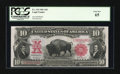 Large Size:Legal Tender Notes, Fr. 119 $10 1901 Legal Tender PCGS Gem New 65....
