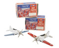 """Antiques:Toys, Pair of Hubley """"Kiddie Toy"""" Die Cast No. 467 Navy Fighters in theOriginal Boxes.... (Total: 2 Items)"""