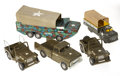 Antiques:Toys, Squadron of Tonka and Marx Army Vehicles.... (Total: 5 Items)