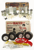 Antiques:Toys, Marx Military Academy Playset and Go-Cart Racer Kit in the Original Boxes.... (Total: 2 Items)