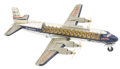 Antiques:Toys, United DC-7 Tin Litho Airliner With See Through Passenger Compartment....