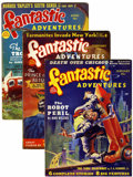 Pulps:Science Fiction, Fantastic Adventures Plus Group (Ziff-Davis, 1939-42) Condition:Average VG.... (Total: 5 Items)