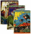 Pulps:Science Fiction, Amazing Stories Group (Ziff-Davis, 1927-48) Condition: AverageGD-.... (Total: 6 Items)