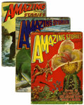 Pulps:Science Fiction, Amazing Stories Group (Ziff-Davis, 1927-46) Condition: AverageVG-.... (Total: 3 Items)