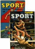 Golden Age (1938-1955):Non-Fiction, True Sport Picture Stories V2#8 and 12 Group (Street & Smith,1944-45) Condition: Average VF-.... (Total: 2 Items)