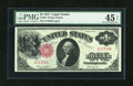 Large Size:Legal Tender Notes, Fr. 36 $1 1917 Legal Tender PMG Choice Extremely Fine 45 EPQ....