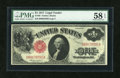 Large Size:Legal Tender Notes, Fr. 36 $1 1917 Legal Tender PMG Choice About Unc 58 EPQ....