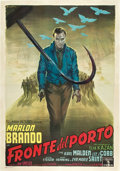 "Movie Posters:Drama, On the Waterfront (Columbia, 1954). Italian 4 - Folio (55"" X 78"")....."