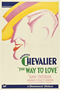"Movie Posters:Romance, The Way to Love (Paramount, 1933). One Sheet (27"" X 41"") Style B....."