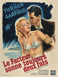"The Postman Always Rings Twice (MGM, 1946). French Grande (47"" X 63"")"