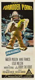 "Movie Posters:Science Fiction, Forbidden Planet (MGM, 1956). Australian Daybill (13"" X 30"").. ..."