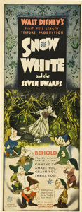 "Movie Posters:Animated, Snow White and the Seven Dwarfs (RKO, 1937). Insert (14"" X 36"").. ..."