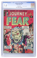 Golden Age (1938-1955):Horror, Journey Into Fear #8 (Superior, 1952) CGC FN/VF 7.0 Off-whitepages....
