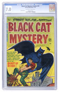 Golden Age (1938-1955):Horror, Black Cat Mystery #41 (Harvey, 1952) CGC FN/VF 7.0 Off-white towhite pages....