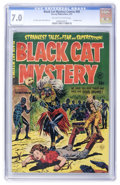 Golden Age (1938-1955):Horror, Black Cat Mystery #43 (Harvey, 1953) CGC FN/VF 7.0 Off-white towhite pages....