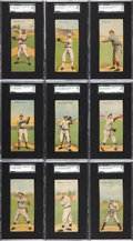 Baseball Cards:Sets, 1911 T201 Mecca Double Folders Complete Set (50)....