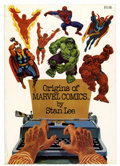 Memorabilia:Comic-Related, Origins of Marvel Comics by Stan Lee Softcover First Edition(Fireside, 1974). ...