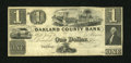 Obsoletes By State:Michigan, Pontiac, MI- Oakland County Bank $1 G2 Lee PON-6-1. ...
