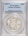 Modern Bullion Coins, 2008-W $100 Statue of Liberty MS70 PCGS. PCGS Population (215/0).NGC Census: (0/0). (#393084)...