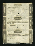 Obsoletes By State:Ohio, Worthington, OH- (Ezra Griswold) $2-$2-$2 Uncut Vertical Strip ofThree Wolka 2875-03. ...