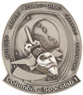Explorers:Space Exploration, Space Shuttle Columbia - Spacelab 1 (STS-9) Flown Silver Robbins Medallion Directly from the Collection of Mission...