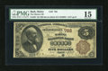 National Bank Notes:Maine, Bath, ME - $5 1882 Brown Back Fr. 467 The Marine NB Ch. # 782. ...