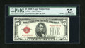 Small Size:Legal Tender Notes, Fr. 1531* $5 1928F Wide I Legal Tender Star Note. PMG About Uncirculated 55.. ...
