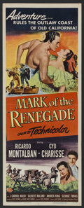 "Movie Posters:Adventure, Mark of the Renegade (Universal International, 1951). Insert (14"" X36""). Adventure. Starring Ricardo Montalban, Cyd Chariss..."
