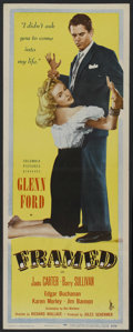"Movie Posters:Film Noir, Framed (Columbia, 1947). Insert (14"" X 36""). Film Noir. StarringGlenn Ford, Janis Carter, Barry Sullivan, Edgar Buchanan. D..."