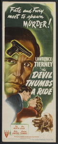 """Movie Posters:Film Noir, The Devil Thumbs A Ride (RKO, 1947). Insert (14"""" X 36""""). Film Noir. Starring Lawrence Tierney, Ted North, Nan Leslie, Betty ..."""