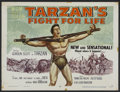 "Movie Posters:Adventure, Tarzan's Fight for Life (MGM, 1958). Half Sheet (22"" X 28"").Adventure. Starring Gordon Scott, Eve Brent, Rickie Sorensen, J..."