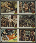"Movie Posters:Adventure, Tarzan's Secret Treasure (MGM, R-1948). Title Lobby Card (11"" X14"") and Lobby Cards (5) (11"" X 14""). Adventure. Starring J...(Total: 6)"
