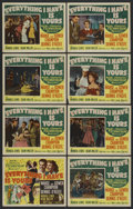 """Movie Posters:Musical, Everything I Have Is Yours (MGM, 1952). Lobby Card Set of 8 (11"""" X 14""""). Musical. Starring Marge Champion, Gower Champion, D... (Total: 8)"""