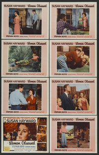 "Woman Obsessed (20th Century Fox, 1959). Lobby Card Set of 8 (11"" X 14""). Romance. Starring Susan Hayward, Ste..."