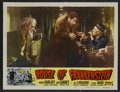 "Movie Posters:Horror, House of Frankenstein (Realart, R-1950). Lobby Card (11"" X 14"").Horror. Starring Boris Karloff, Lon Chaney, Jr., John Carra..."
