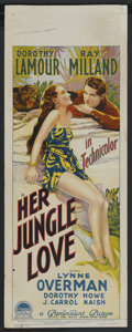 "Movie Posters:Adventure, Her Jungle Love (Paramount, 1938). Australian Daybill (15"" X 40"").Adventure. Starring Dorothy Lamour, Ray Milland, Lynne Ov..."