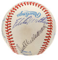 Autographs:Baseballs, 500 Home Run Club Baseball Signed by 7. Seven members of baseball'sexclusive 500 Home Run Club, including Ted Williams, Er...